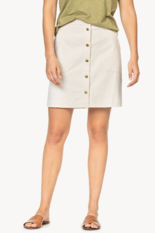 Lilla P Button Front Skirt
