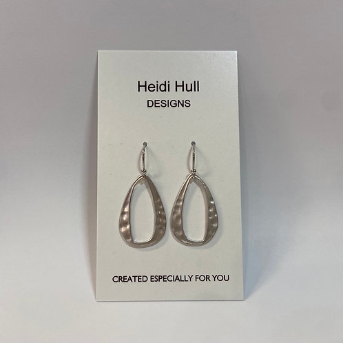 Silver Oval Earings