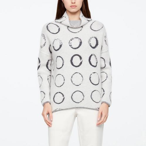 Sarah Pacini Long Circle Motif Sweater 11151