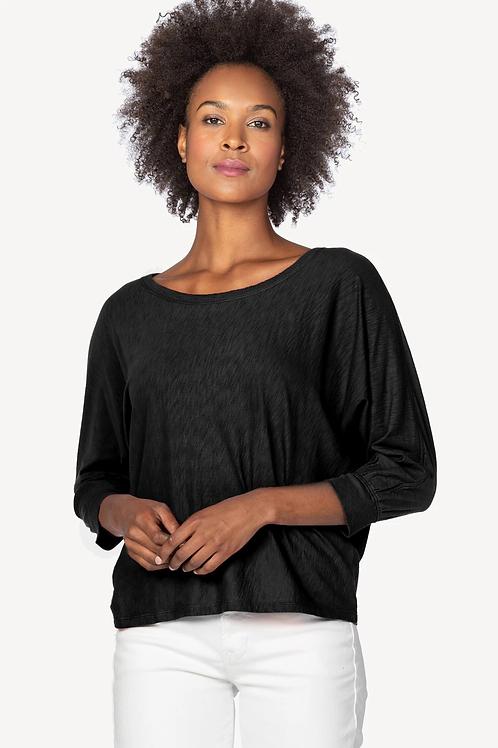 Lilla P Dolman Sleeve Sweatshirt Black PA1420