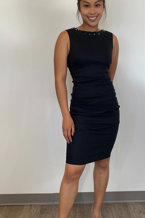 Nicole Miller Black High Neck Dress