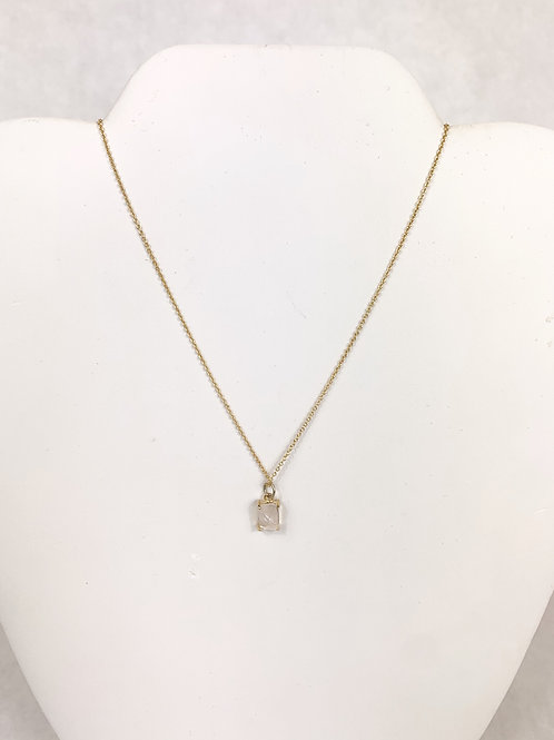 Gold Necklace with Gem