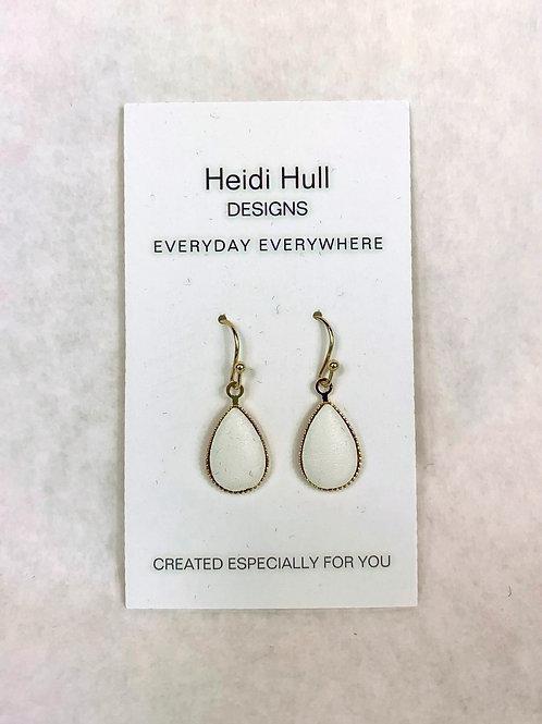 Gold Dangling Tear Drop Earrings