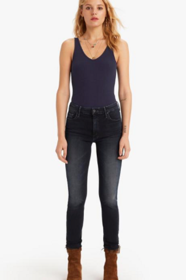 Mother High Waisted Looker Ankle Fray in Last Call