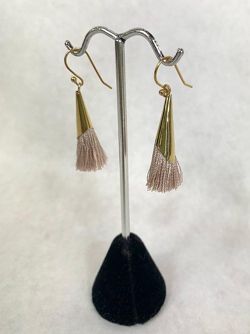 Gold Tassel Dangling Earrings