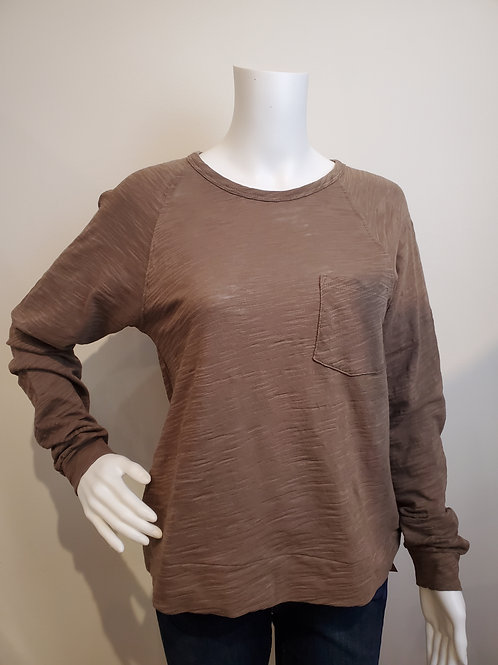 Lilla P Raglan Pocket Tee in Fawn - PA1412