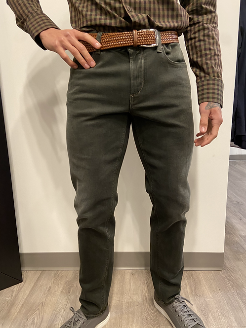 Alberto Pipe Overdyed Olive Jean 1289