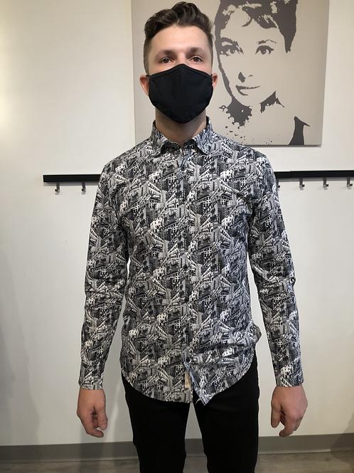 Haupt City Scene Button-Up Shirt 7220/2021