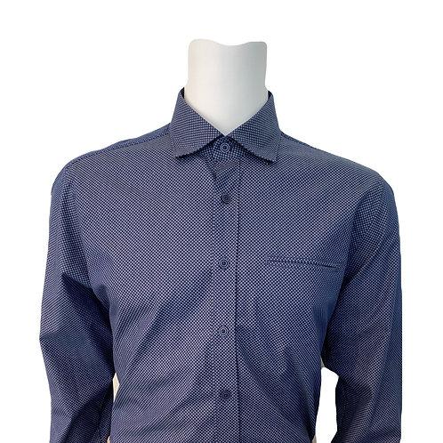 Haupt Blue Check Dress Shirt 3190