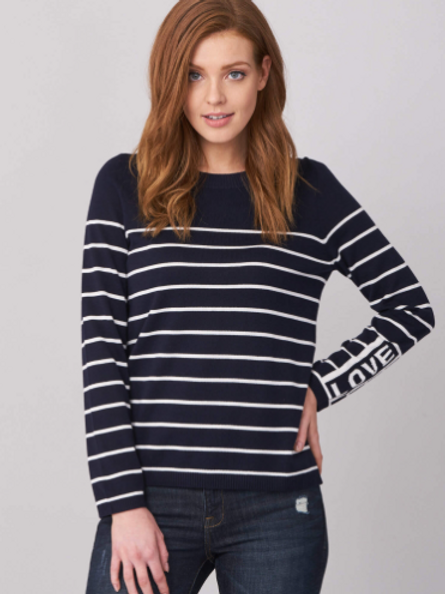REPEAT Sweater with Stripes
