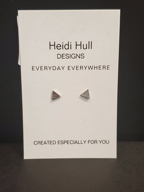 Heidi Hull Designs Silver Triangle Stud Earrings