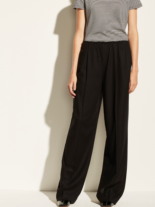 Vince Wool Flannel Wide Leg Pull On Pant V690521706