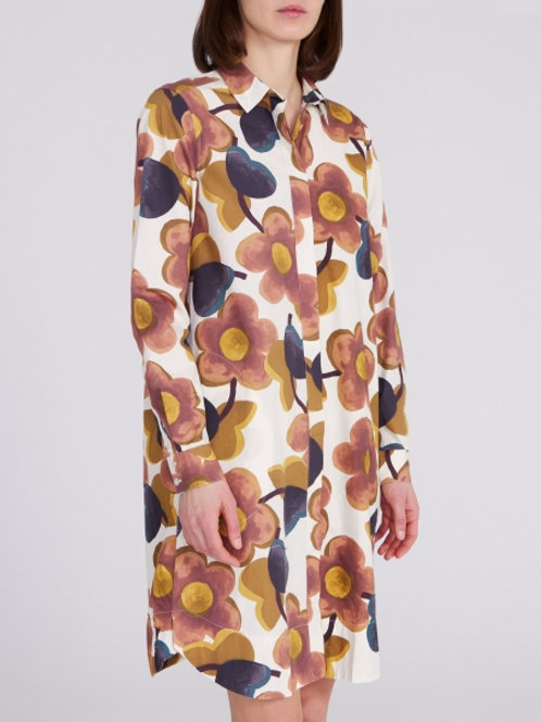 0039 Italy Gracia Shirtdress in Cream/Multi - 212131