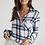 Thumbnail: Bella Dahl Pocket Button-Down in White Plaid B2808-A74