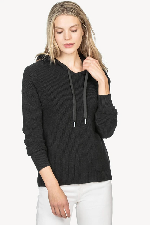 Lilla P Easy Hoodie Sweater in Black PA1299