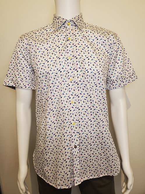 Luchiano Visconti Signature Short-Sleeved Button Up in Guitars - 4487