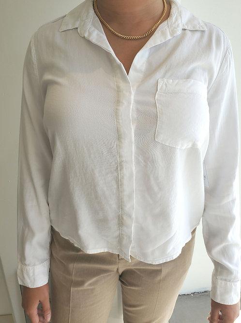 Bella Dahl Trimmed Pocket Button Down in White - B4652-654-303