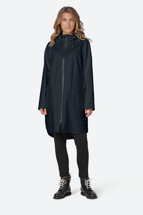 Ilse Jacobsen Black Raincoat Rain128