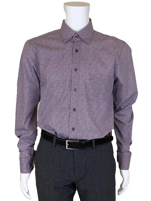 Haupt Purple Leaves Dress Shirt 3370