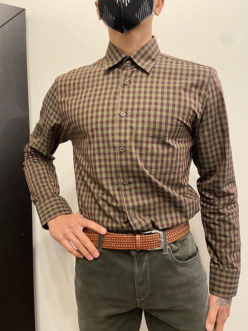 Haupt Brown and Green Check Button-Up 7006/2370