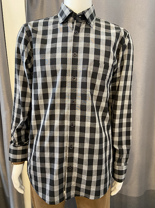 Haupt Black and White Check Button-Up 7007/2460
