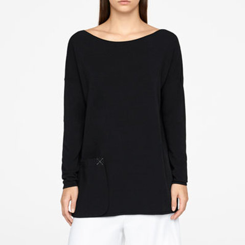 Sarah Pacini Black Long Sweater 201084