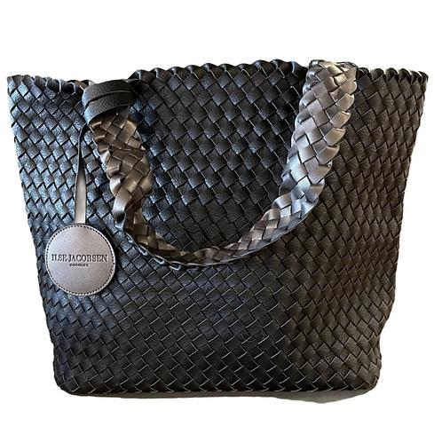 Ilse Jacobsen Tote Bag in Black Gun Metal 08-001718