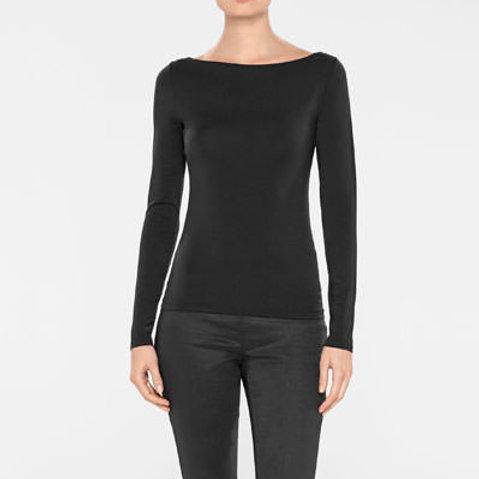 Sarah Pacini Black T-Shirt 192531