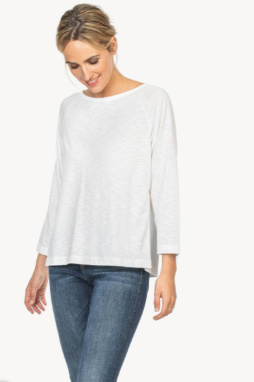 Lilla P 3/4 Sleeve Pleat White