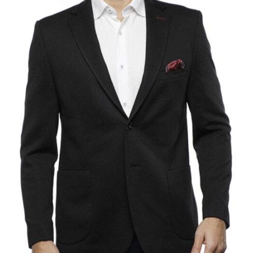 Luchiano Visconti Black Jacquard Sport Coat