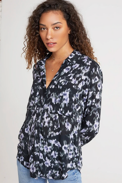 Bella Dahl Hipster Shirt in Black Floral B4478-C32-304