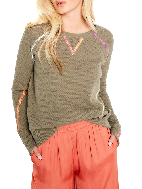 Lisa Todd In Stitches Sweater in Reed