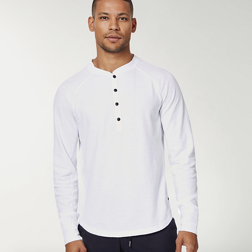 Goodman Henley Soft Slub Jersey in White G36-11