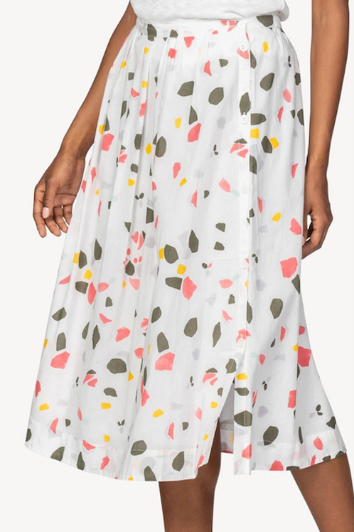 Lilla P Side Button Skirt in Matisse Print - PA1454