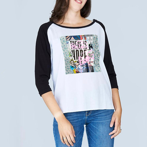 Suzy Roher Boat Neck Bailey T-shirt in There Is Hope