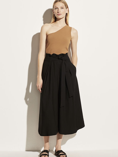 Vince Belted Palazzo Culotte Pants in Black - V749421986