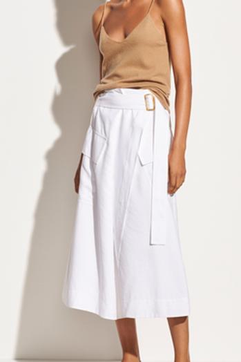 Vince Utility Skirt in White