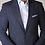 Thumbnail: Carl Gross Denim Color Tweed Jacket