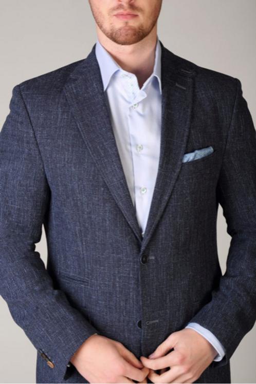 Carl Gross Denim Color Tweed Jacket