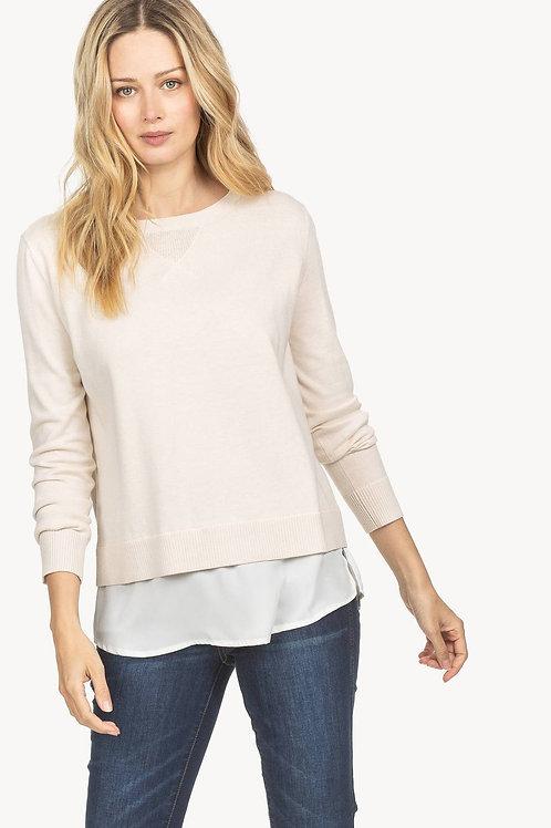 Lilla P Shirttail Hem Pullover Sweater