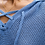 Thumbnail: White + Warren Cotton Lace Up Hoodie in Crystal Blue - 19288