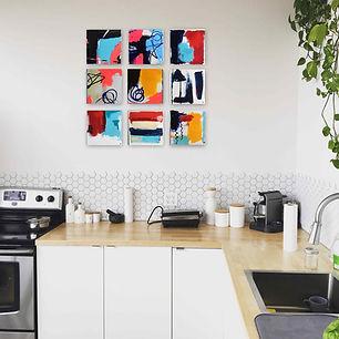 Abstraktes-Gemälde-Flächen-Malerei-Manufaktur