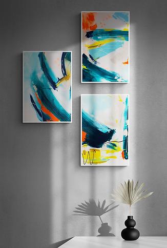 Abstraktes-Gemälde-Phthalo-1-Malerei-Manufaktur