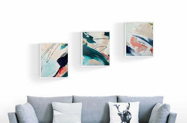 Abstraktes-Gemälde-Phthalo-2-Malerei-Manufaktur