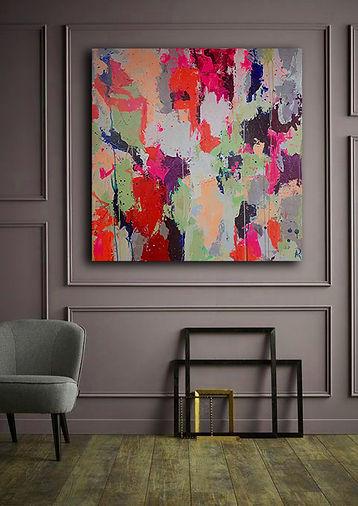 Abstraktes-Gemälde-Greenery-Malerei-Manufaktur