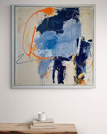 Abstraktes-Gemälde-Stone-Blue-Malerei-Manufaktur