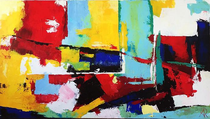 Abstraktes-Gemälde-Ausgleich-Malerei-Manufaktur