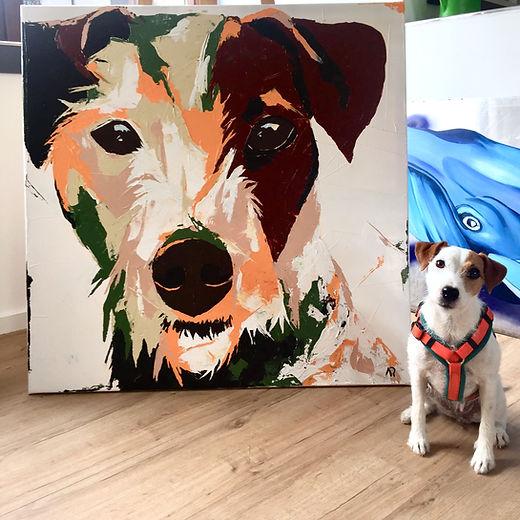 Hundeportrait-Anis-Malerei-Manufaktur