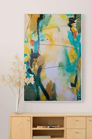 Abstraktes-Gemälde-Rapsfeld-Malerei-Manufaktur