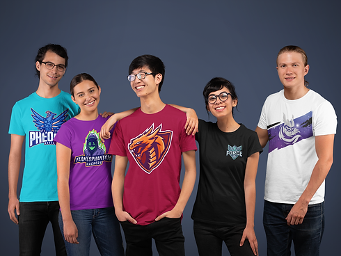 t-shirt-mockup-of-a-diverse-gaming-team-
